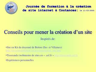 Journ�e de formation � la cr�ation  de site internet � Coutances: le 11-03-2005