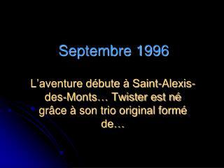 Septembre 1996