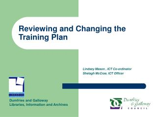 Reviewing and Changing the Training Plan