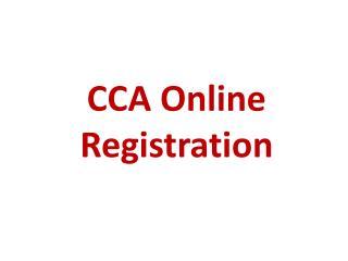 CCA Online Registration