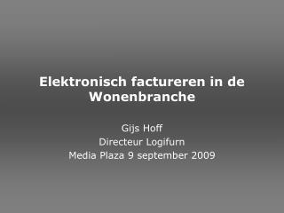 Elektronisch factureren in de Wonenbranche