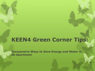 KEEN4 Green Corner Tips:
