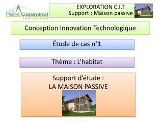 Conception  Innovation Technologique