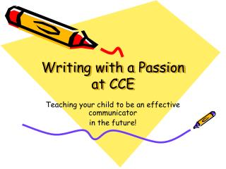 Writing with a Passion at CCE