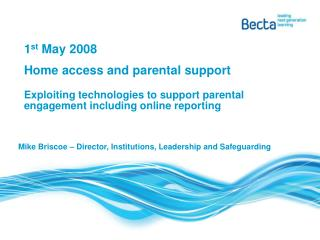 1 st  May 2008