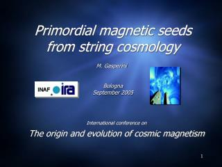 Primordial magnetic seeds from string cosmology