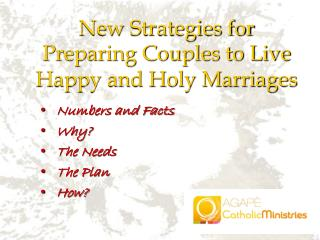 New Strategies for Preparing Couples to Live Happy and Holy Marriages