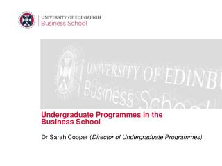 Undergraduate Programmes in the Business School