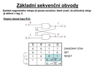 Základní sekvenční obvody