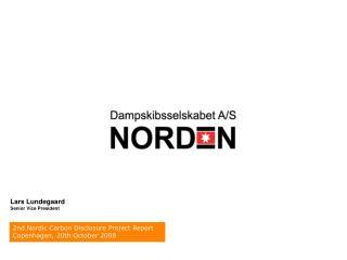 2nd Nordic Carbon Disclosure Project Report            Copenhagen, 20th October 2008