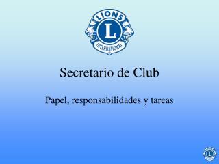 Secretario de Club