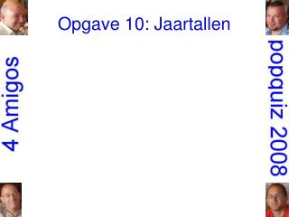 Opgave 10: Jaartallen