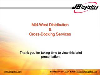 Mid-West Distribution  &  Cross-Docking Services