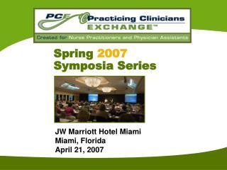 Spring 2007 Symposia Series