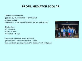 PROFIL MEDIATOR SCOLAR