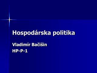 Hospod rska politika