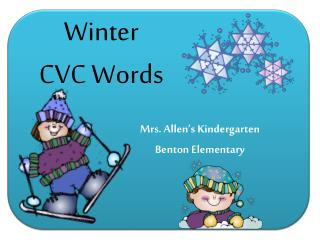 Winter  CVC Words