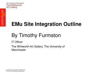EMu Site Integration Outline