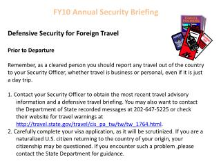 FY10  Annual Security Briefing