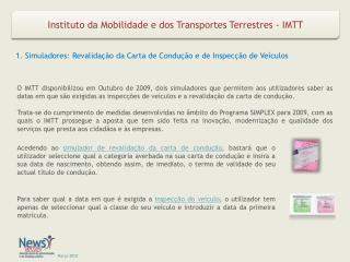 Instituto da Mobilidade e dos Transportes Terrestres - IMTT