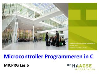Microcontroller Programmeren in C