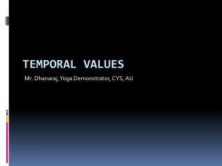 Temporal values