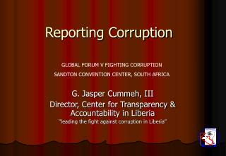 Reporting Corruption