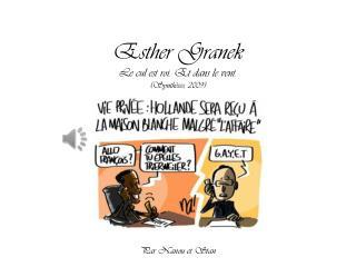 Esther Granek Le cul est roi. Et dans le vent. (Synthèses, 2009)