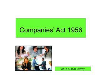 Companies' Act 1956