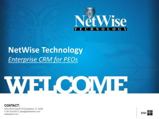 NetWise Technology Enterprise CRM for PEOs
