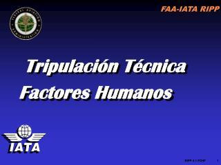 Tripulación Técnica  Factores Humanos