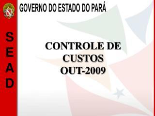 CONTROLE DE CUSTOS OUT-2009