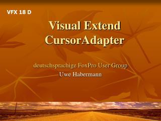 Visual Extend CursorAdapter