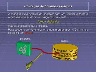 Utilização de ficheiros externos