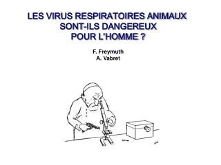 LES VIRUS RESPIRATOIRES ANIMAUX  SONT-ILS DANGEREUX POUR L'HOMME ? F. Freym u th A. Vabret