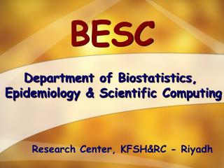 Department of Biostatistics,  Epidemiology & Scientific Computing