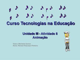 Curso Tecnologias na Educação