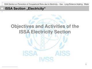 "ISSA Section ""Electricity"""
