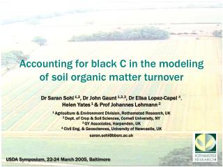Accounting for black C in the modeling of soil organic matter turnover