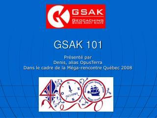 GSAK 101