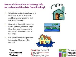 How can information technology help me understand the risks from flooding?