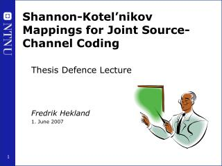 Shannon-Kotel�nikov Mappings for Joint Source-Channel Coding