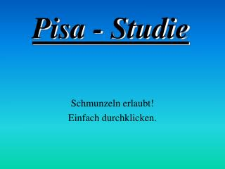 Pisa - Studie