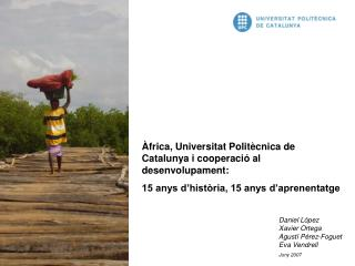 Àfrica, Universitat Politècnica de Catalunya i cooperació al desenvolupament: