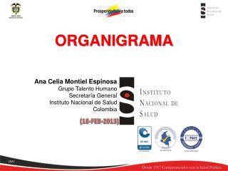 Ana Celia Montiel Espinosa Grupo Talento Humano Secretaría General