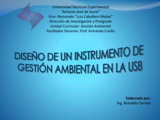 Universidad Nacional Experimental �Antonio Jos� de Sucre� Vice- Rectorado �Luis Caballero Mej�as�
