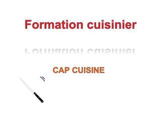 Formation cuisinier