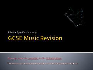 GCSE  Music Revision