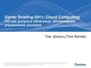 Garter Briefing 2011: Cloud Computing ПО как услуга и облачные  вычисления:  управление рисками