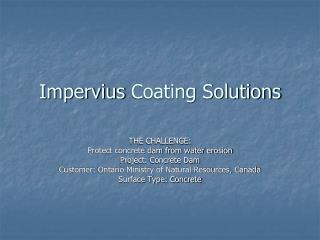 Impervius  Coating Solutions